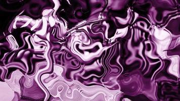 abstrakte Animation lila violette Farbe wellige glatte Wand. Konzept flüssiges Muster. gewellte Reflexionsfläche. schöne stilvolle 3d Farbverlauf Textur trendige Farbe flüssige Abstraktion fließen.