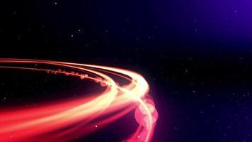 boule lumineuse de lumière zoomant dans l'espace video