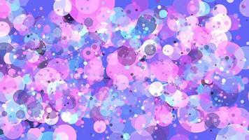 fundo de círculos coloridos video