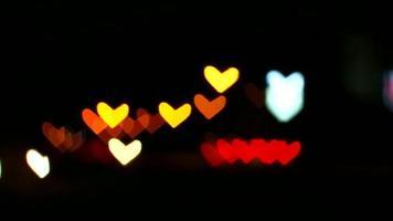 difuminar corazones de luz de coches