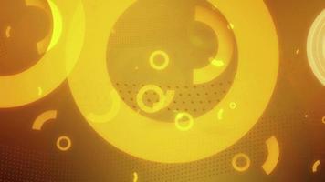 fondo circular ámbar abstracto video