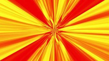 fundo abstrato de raios de luz vermelha e amarela