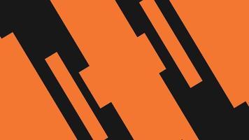 Satz von orange und schwarz gefärbten geometrischen Übergängen video