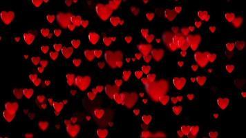 Fondo 3d de corazones rojos video