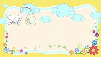 Nature animation frame background