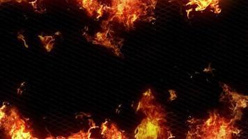 fundo de gaiola de fogo