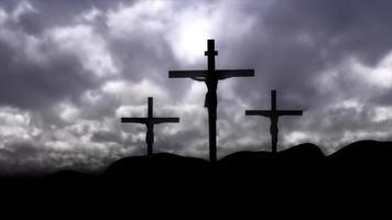 Friedhofshügelhintergrund video