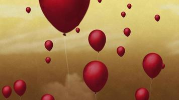 Floating Balloons Background video