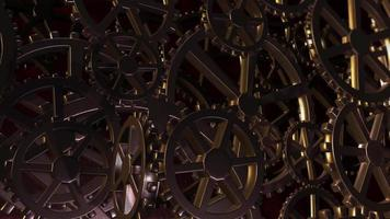 Abstract iron gears background video