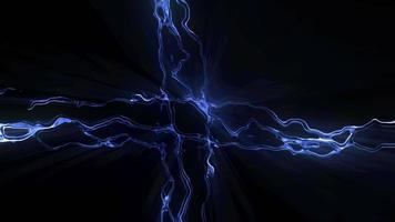 blauer flüssiger Energiehintergrund