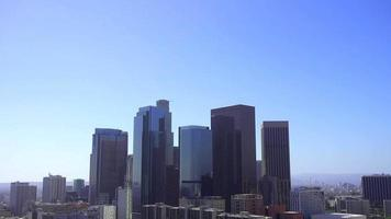 Top to Bottom Panning Shot of Downtown Los Angeles 4K video