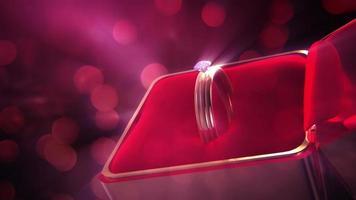 sfondo di nozze anello di diamanti 4k
