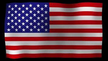 vídeo de stock de lazo de movimiento de bandera estadounidense 4k