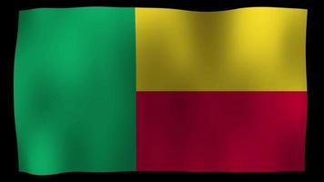 Benin Flag 4K Motion Loop Stock Video