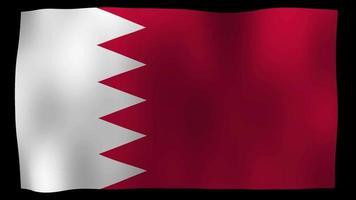 Bucle de movimiento de 4k de bandera de Bahrein