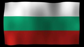 Bulgaria Flag 4K Motion Loop Stock Video