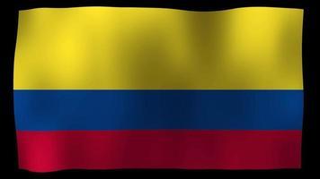 colombia flag 4k motion loop stock video