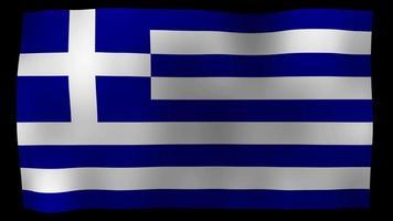 vídeo de stock de bucle de movimiento 4k de bandera de Grecia