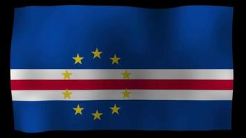Cape Verde Flag 4K Motion Loop Stock Video