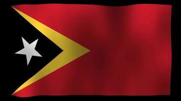 East Timor Flag 4K Motion Loop Stock Video