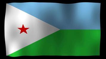 Djibouti flag 4k motion loop video de archivo