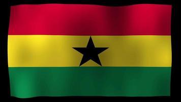 Video de stock de bucle de movimiento de 4k de bandera de Ghana