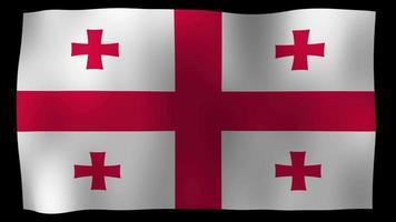 vídeo de stock de bucle de movimiento 4k de bandera de Georgia