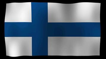 Finland Flag 4K Motion Loop Stock Video