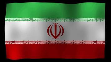 Vídeo de stock de bucle de movimiento 4k de bandera de Irán