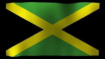 bandiera giamaicana 4k motion loop stock video