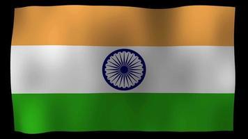 bandiera indiana 4k motion loop archivi video
