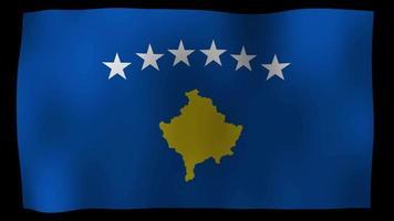 Kosovo Flag 4K Motion Loop Stock Video