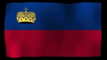 Liechtenstein Flag 4K Motion Loop Stock Video