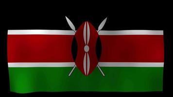 Kenya Flag 4K Motion Loop Stock Video