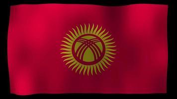 Kyrgyzstan Flag 4K Motion Loop Stock Video