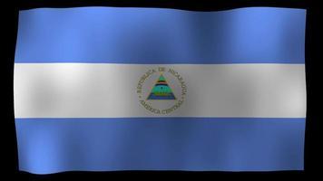 Nicaragua Flag 4K Motion Loop Stock Video
