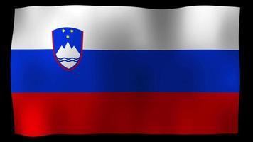Slowenien Flagge 4k Motion Loop Stock Video