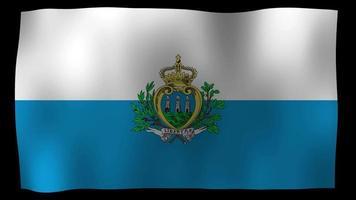 vídeo de stock de bucle de movimiento 4k de bandera de san marino video