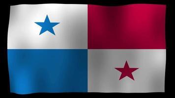 bandera de panamá, 4k, movimiento, lazo