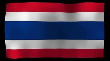 Tailândia flag 4k motion loop video estoque