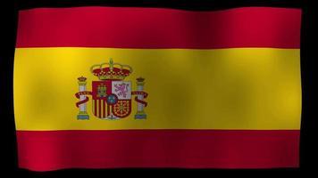 spanien flagge 4k bewegungsschleife stock video