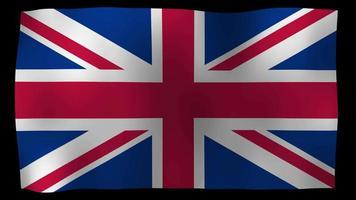 Reino Unido bandera 4k movimiento lazo stock video