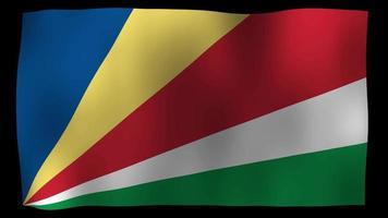 El bucle de movimiento de 4k de la bandera de seychelles stock video