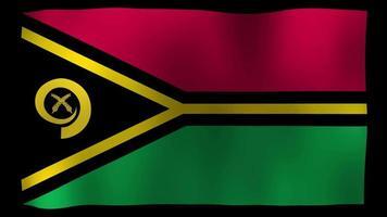 vídeo de stock de bucle de movimiento de 4k de bandera de vanuatu