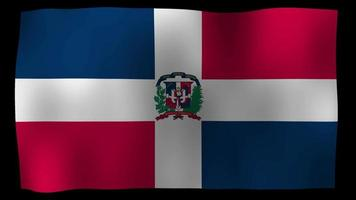 La bandera de la república dominicana 4k motion loop stock video