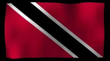 vídeo de stock de bucle de movimiento 4k de bandera de trinidad y tobago