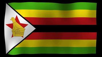 vídeo de stock de bucle de movimiento 4k de bandera de zimbabwe