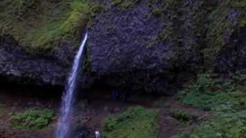 Drone Footage of Horsetail Falls Waterfall