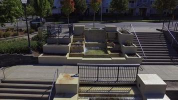 luchtfoto van waterval type fonteinen