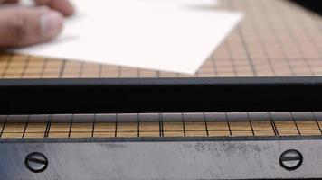 corte de detalle de papel